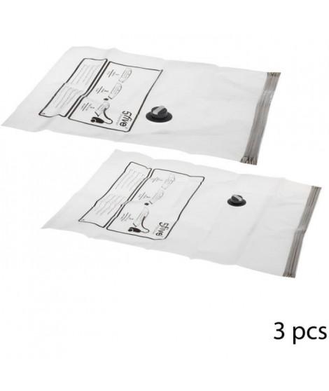 FIVE Lot de 3 Sacs de rangement sous vide Air Roll