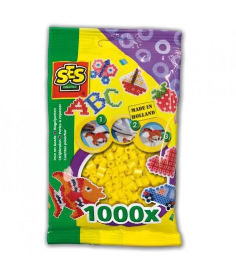 SES CREATIVE Lot de 1000 perles a repasser - Jaune