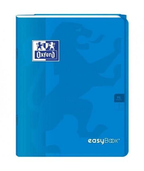 OXFORD Cahier Easybook agrafé - 17 x 22 cm - 96p seyes - 90g - Bleu
