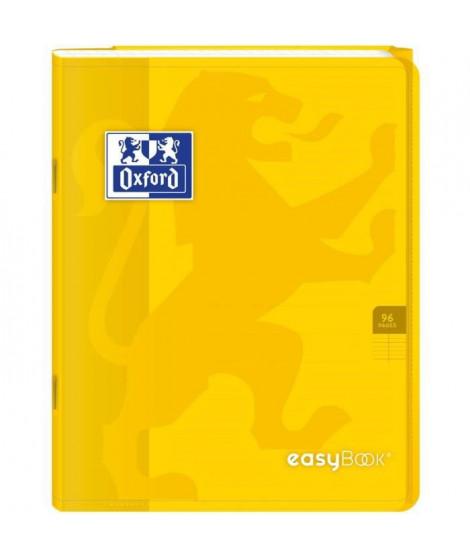 OXFORD Cahier Easybook agrafé - 17 x 22 cm - 96p seyes - 90g - Jaune