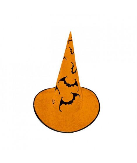CESAR Chapeau Sorciere - Orange - Avec chauve souris - Enfant