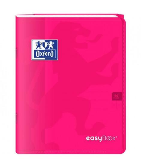 OXFORD Cahier Easybook agrafé - 17 x 22 cm - 96p seyes - 90g - Rose