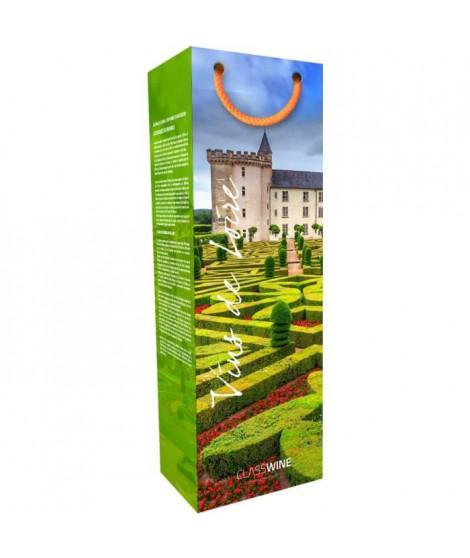 CLASSWINE Pochette pour 1 bouteille vin de Loire Jardin