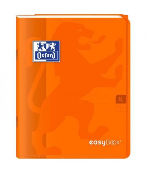 OXFORD Cahier Easybook agrafé - 17 x 22 cm - 96p seyes - 90g - Orange