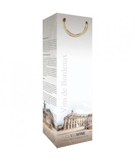 CLASSWINE Pochette pour 1 bouteille vin de Bordeaux Place de la Bourse