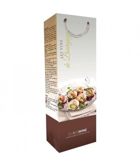 CLASSWINE Pochette pour 1 bouteille vin de Bourgogne Gastronomie