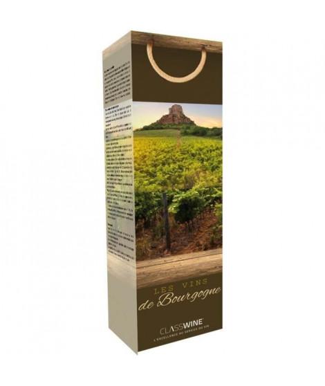 CLASSWINE Pochette pour 1 bouteille vin de Bourgogne Vigne