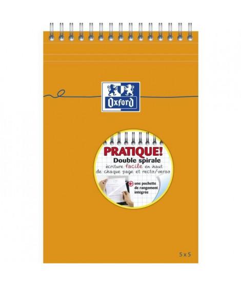 OXFORD Bloc-notes reliure intégrale - Petits carreaux - 160 pages - Orange - 21 cm x 14,8 cm x 0,9 cm