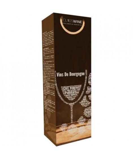 CLASSWINE Pochette pour 1 bouteille vin de Bourgogne Tonneau