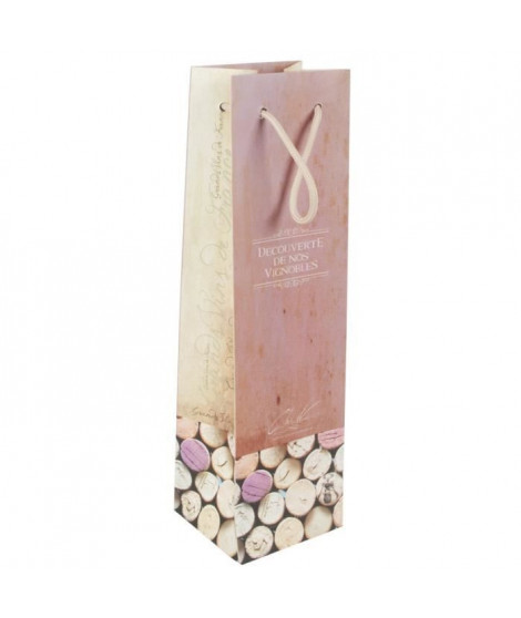 Pochette a bouteille Bouchons roses