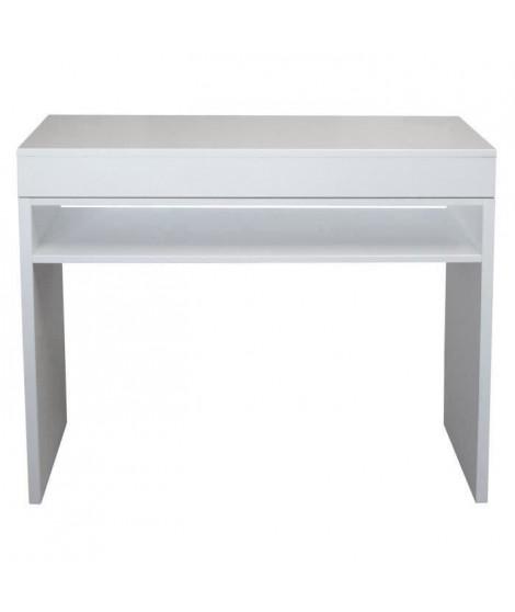 SLIDE Console style contemporain blanc brillant - L 93 cm