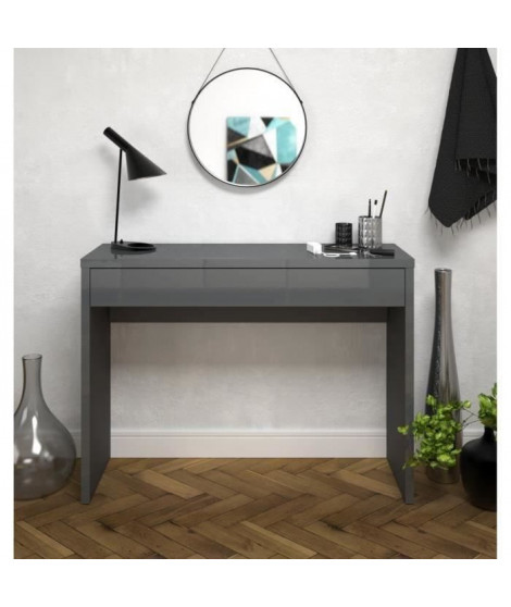 ARENA Console style contemporain gris brillant - L 109 cm