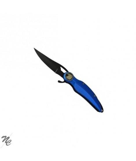 PRADEL EXCELLENCE Couteau de poche Plume - Bleu électrique - Avec tete d'aigle
