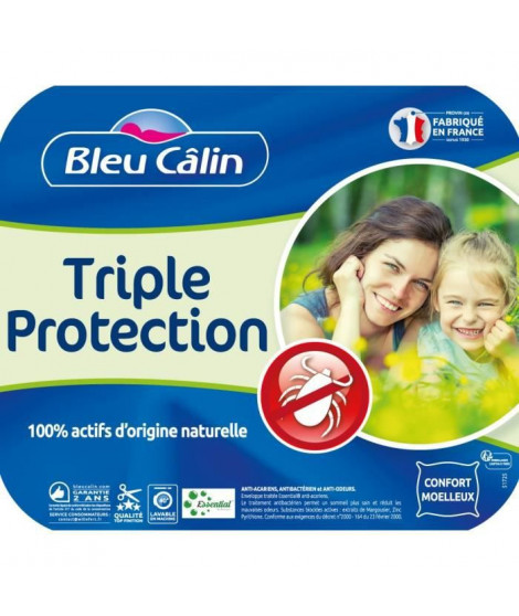 BLEU CALIN Traversin ESSENTIAL by PRONEEM™ - 100% coton traité Pur Essential ™ - 140 cm