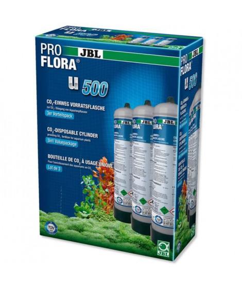 JBL 3 bouteilles de CO2 Proflora U500 2 - Pour plantes d'aquarium - 500g