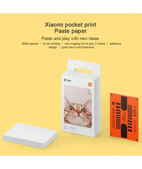 XIAOMI 20 feuilles pour Imprimante Photo Portable