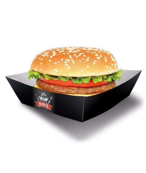 AMSCAN Lot de 4 Boîtes Burger BBQ Party 13 x 13 cm