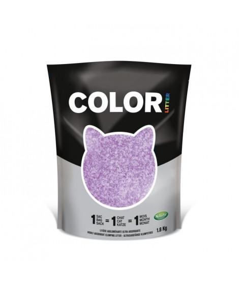 NULLODOR Litiere Color par DEMAVIC - 1,8 kg - Violet - Pour Chat