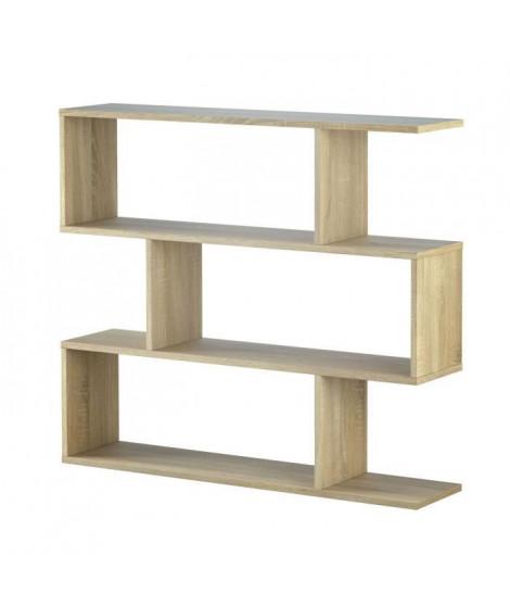 ATHENA Étagere meuble - Contemporain - Décor chene canadien - L 110 cm