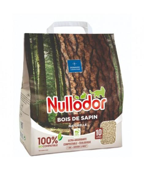 NULLODOR Litiere Bois de sapin par DEMAVIC - 10 L - 4,4 kg