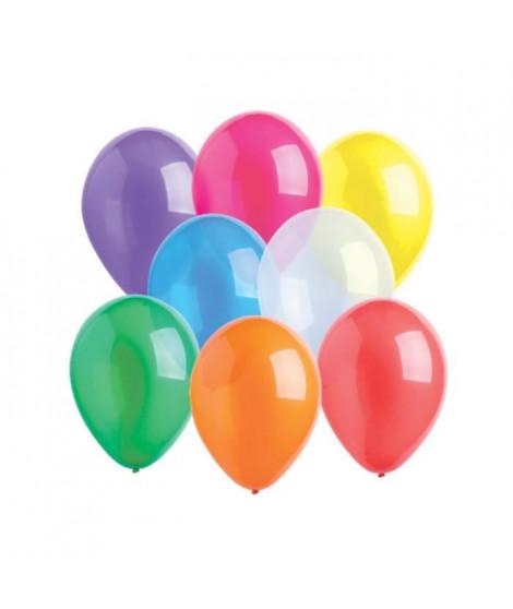 AMSCAN Lot de 10 Ballons en latex Crystal 27,5 cm/11 - Coloris Assortis