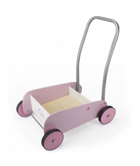 COROLLE - Chariot de marche bois et métal