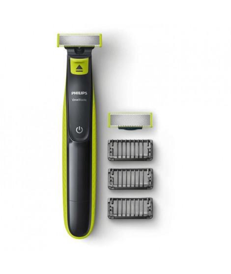 PHILIPS QP2520/30 Rasoir OneBlade - 3 sabots clipsables barbe de 3 jours - rechargeable - 100% étanche
