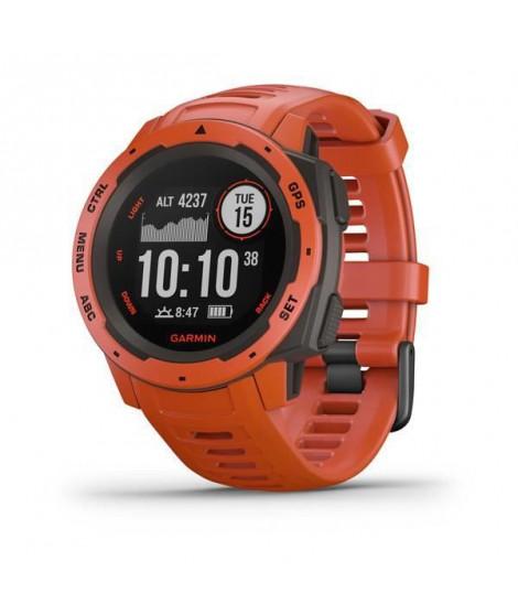 Garmin Instinct- Montre GPS robuste - Rouge Feu