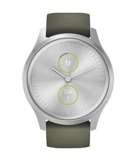 Garmin vivomove Style - Montre connectée avec aiguilles mécaniques et écran tactile couleur - Silver Moss