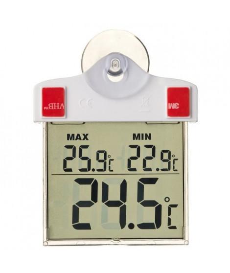 NATURE Thermometre extérieur mini-maxi - Fixation par ventouse