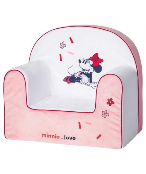 DISNEY Fauteuil classic déhoussable Minnie confettis - 25 cm - Velours 100% polyester