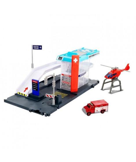 MATCHBOX Playset Helicoptere - Circuit / Petite Voiture - 3 ans et +