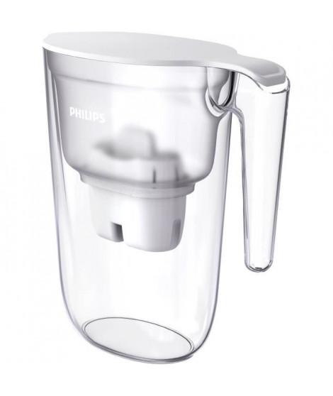 PHILIPS AWP2935WH Carafe filtrante 2.6L - Bec antipoussiere pour une eau pure - Couvercle a clapet - Débit d'eau 0,3 l/min - …