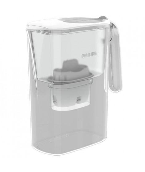 PHILIPS AWP2936WH - Carafe filtrante 3L - Bec antipoussiere pour une eau pure - Couvercle a clapet - Débit d'eau 0,3 l/min - …