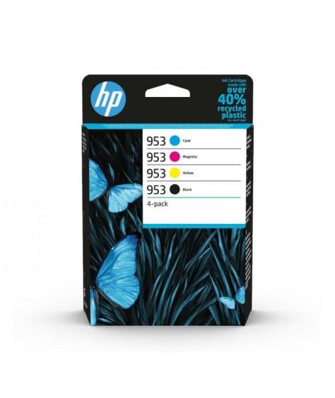 HP 953 pack de 4 cartouches d'encre authentiques, noir/cyan/magenta/jaune (6ZC69AE) pour HP OfficeJet Pro 7700 / 8200 / 8700