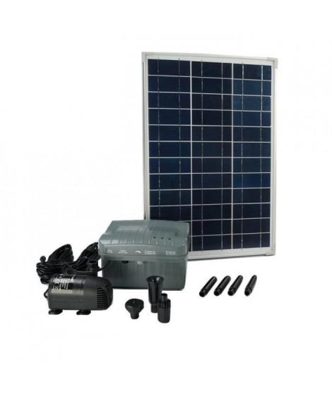 UBBINK Pompe de bassin solaire Solarmax 1000 avec panneau + accu + jets d'eau volcan et cloche