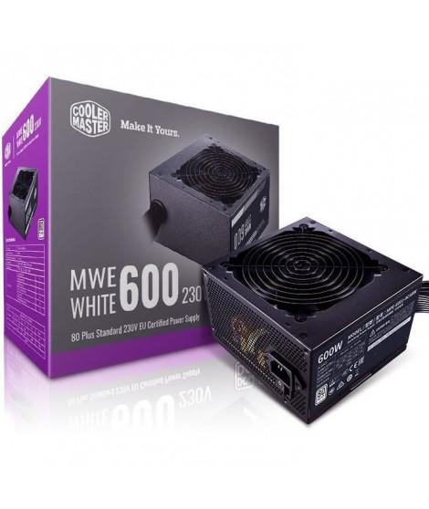 COOLER MASTER MWE White V2 600W  - Alimentation 600W (Certifiée 80 Plus White Garantie 3 ans) Câbles plats noir