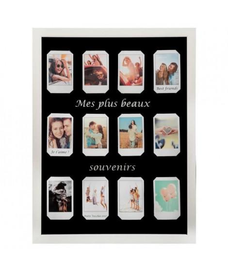Pele-mele Polaroid - 12 Photos - Blanc