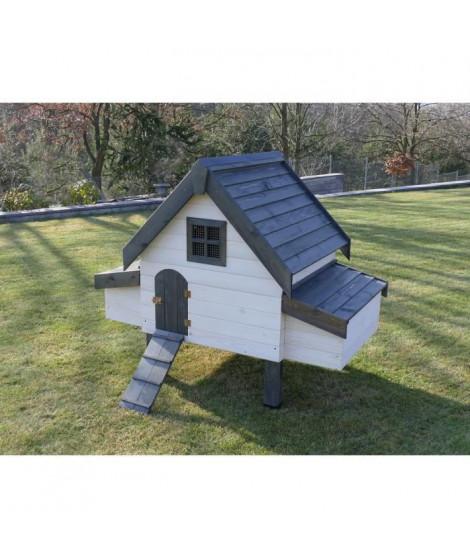 VADIGRAN - Poulailler Robusta 3 blanc 2 nest 100x100x142cm