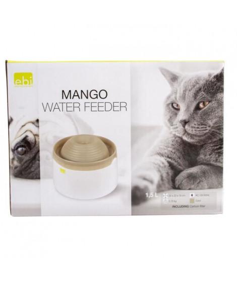 LAROY DUVO Mango Abreuvoir pour chats et petits chiens - 1,5 L - 22 x 22 x 15 cm - Moka