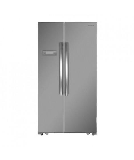 WINIA WFRN-H545B2X-Réfrigérateur américain-517L (345L + 172L)-Froid ventilé total-A++-L 90,5 x H 177 cm-Inox