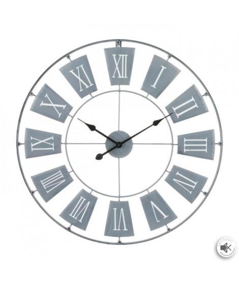 Horloge en métal - Ø76 cm - Gris clair