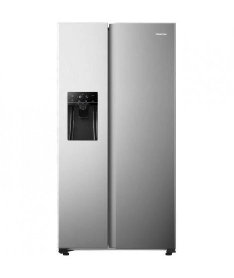 Hisense RS650N4AD1 - Réfrigérateur américain - 474L (332L + 142L) - froid ventilé total - classe A+ - L91cm x H179cm - Silver