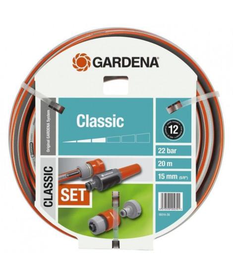 Tuyau  d'arrosage classic GARDENA avec accessoires  - diametre 15mm - 20m 18014-26