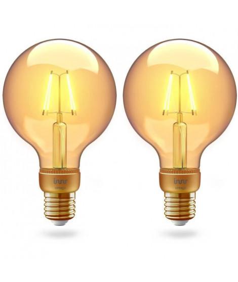 INNR Ampoule connectée  E27 - ZigBee 3.0 - Pack de 2 ampoules Vintage filament - 2200K -  Globe Intensité réglable.