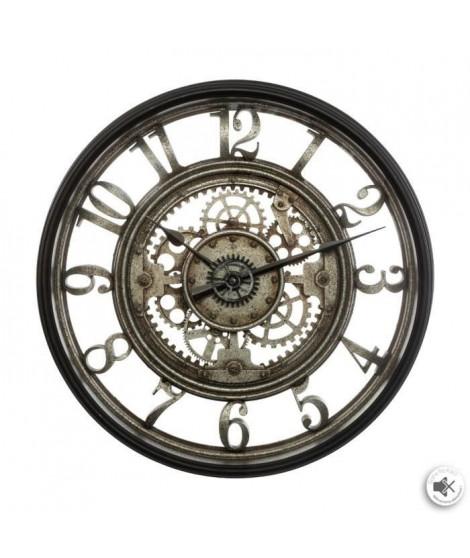Horloge mécanique - Ø51 cm - Gris