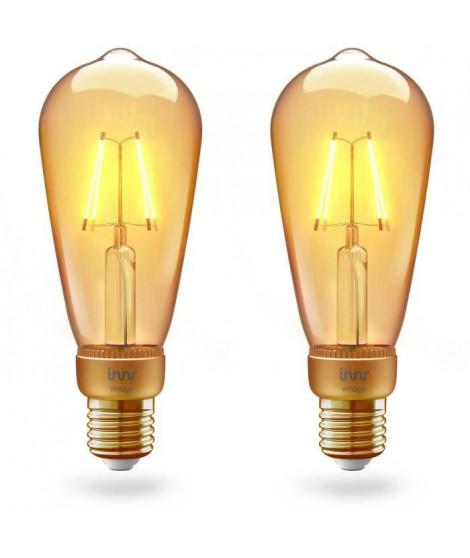 INNR Ampoule connectée  E27 - ZigBee 3.0 - Pack de 2 ampoules Vintage filament - 2200K -  Edison Intensité réglable.