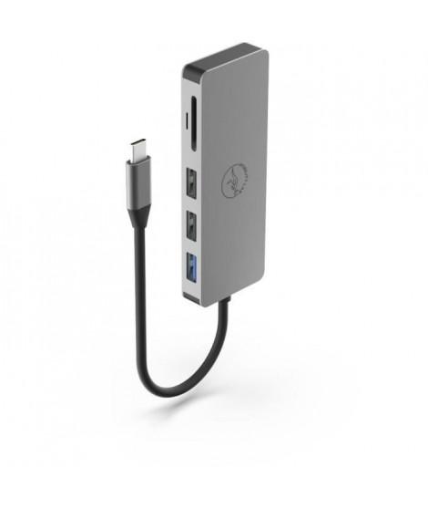 Mobility Lab - ML301273 - Mini dock USB-C power delivery - 7 en 1 - HDMI Hub usb 3.0 card reader - Gris Sideral