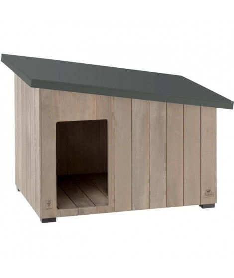 FERPLAST - ARGO 100 Niche pour chien en bois de pin nordique L 48,5 x L 30,5 x H 38,5 cm