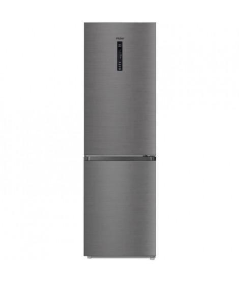 HAIER R2DF512DHJ - Réfrigérateur combiné - No Frost -  341L (233+ 108) - Froid ventilé - A+ - L59.5 x H190 cm - Silver